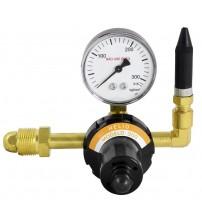 Válvula reguladora  para cilindro de gás hélio com bico flexível