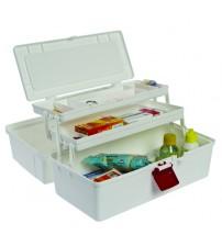 Maleta de primeiros socorros caixa plastica com divisórias EM 291 (Caixa vazia, sem acessórios)